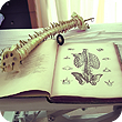 Image of spine and textbooks.